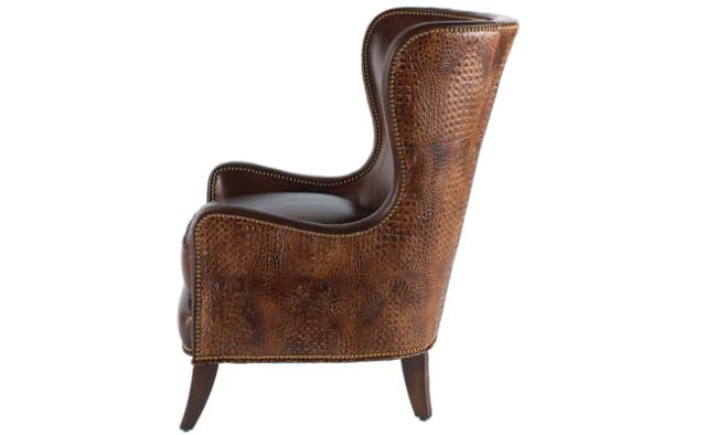 Massoudu0027s Dooley Chair Is Shown In Rich Blend Of Leathers And Wood.