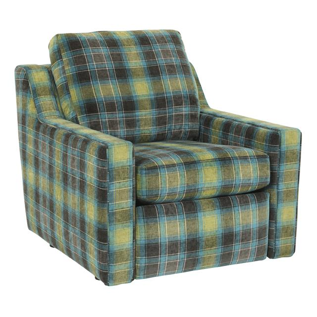 Norwalk Anderson plaid recliner