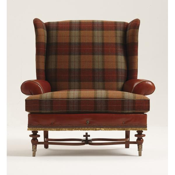 Bruce Andrews tweed Benchmark chair