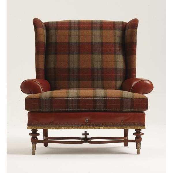 Bruce Andrews tweed Benchmark chair