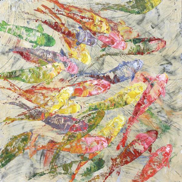 Cooper Classics Koi fish original painting