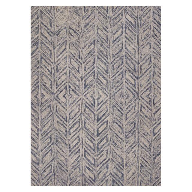 KAS Rugs Gramercy 1611 Blue Hither Herringbone