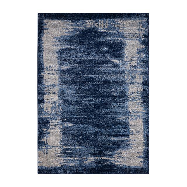 Kathy Ireland Nourison Illusion Collection Montage blue rug