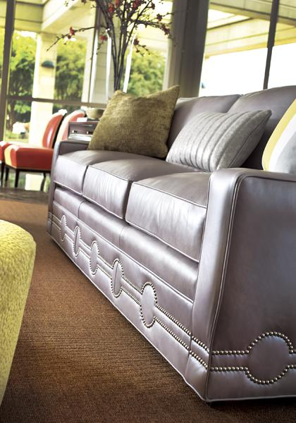 Leathercraft Nailhead Leather Sofa