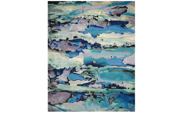 Nourison Seaglass blue area rug