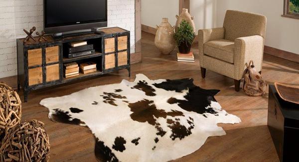Saddlemans hair-on-hide rug