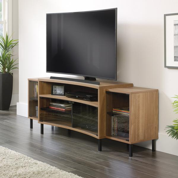 Sauder curved entertainment credenza