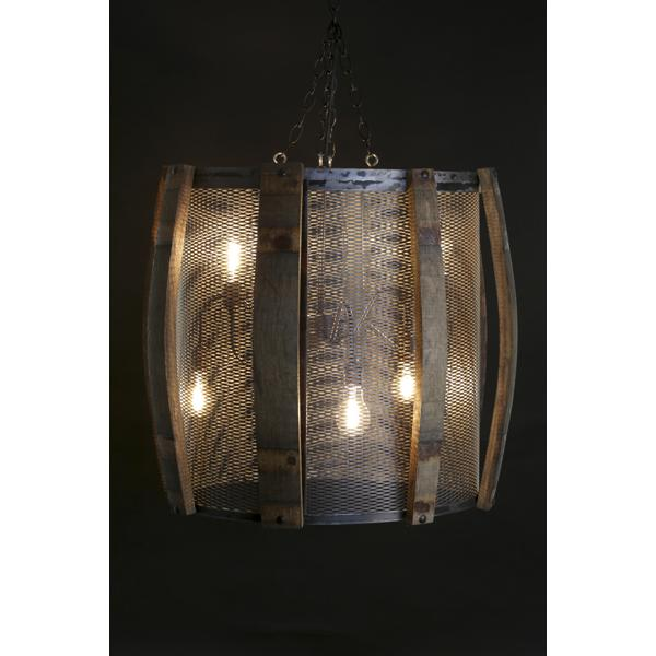 Velorossa wine barrel chandelier