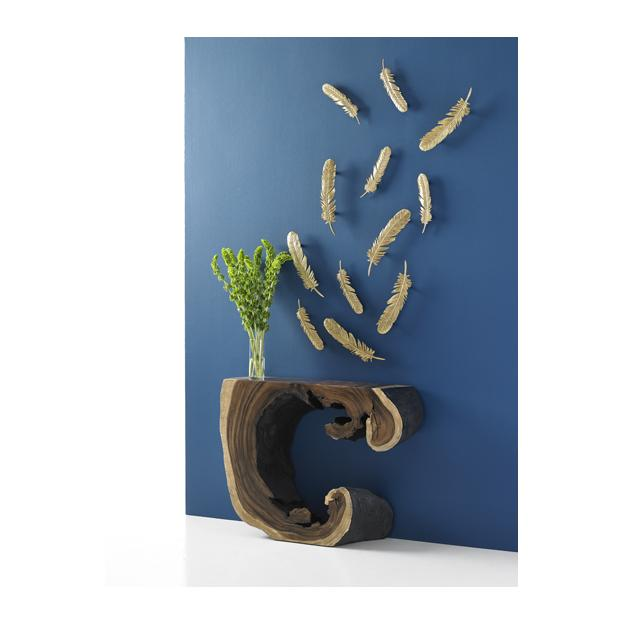 Dann Foley feathers wall decor